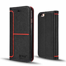 New Luxury Leather Card Wallet Flip Case Cover for Apple iPhone 7 6S 6 Plus
