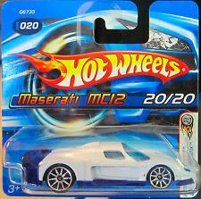 Hot Wheels Maserati MC12 2005 First Editions Realistix White Short Card!