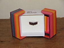 Evine Live 5-Oval Gemstone Sterling Silver Ring Size 7