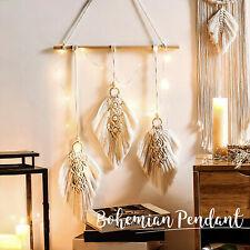 Macrame Woven Wall Hanging Tapestry Boho Bohemian Home Room Art Decor Handmade