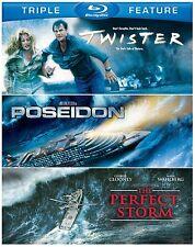 TWISTER / POSEIDON / THE PERFECT STORM   -  Blu Ray - Sealed Region free