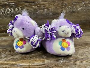 NWT CARE BEARS Children's Slippers Shoes Size M 7-8 Lavender Harmony Cheer