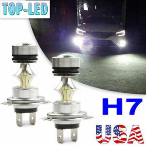 H7 Super White 100W LED Fog Driving Lights Bulbs DRL Lamp Headlight Kit 6000K US