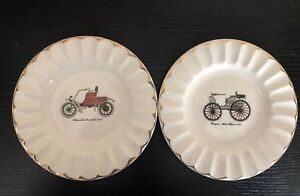 OLDSMOBILE ROUNDABOUT 1903 Duryeas Motor Wagon ASHTRAY LOT CARS VINTAGE PLATE