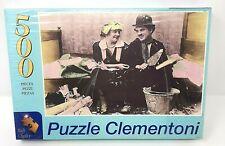 Clementoni High Quality 500 Piece Jigsaw Puzzle Charlie Chaplain Work Free Glue