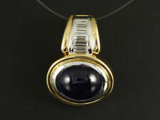 Wunderschöner Saphir Diamant Clip Anhänger ca. 8,65ct  750/- Gelbgold & Weißgold