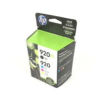HP 920 XL High Yield Black & 920 Tri-Color Ink Cartridges Unopened Expired
