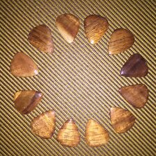 12 hand made hawaiian koa wood guitar picks plectrums