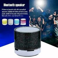 Tragbarer Mini-Bluetooth-Lautsprecher mit USB-LED-Licht und Musikbox-Subwoo