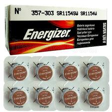 8 x Energizer Silver Oxide 357/303 batteries 1.55V D357 V357 SR44 Watch
