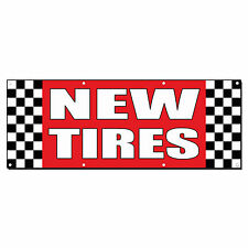 New Tires Auto Body Shop Car Repair Banner Sign 2 ft x 4 ft /w 4 Grommets