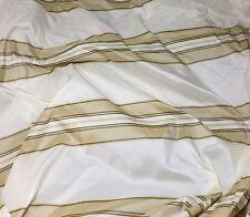 """Ivory & Beige Stripes - Silk TAFFETA Fabric fat 1/4 18""""x27"""" remnant"""