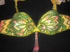 USED BRA & BELT  PROFESSIONAL BELLY DANCE COSTUME MADE IN EGYPT