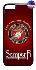 US Marine Corps Semper Fi USMC Rubber Case iPhone 11 Pro Max Xs XR 8 Plus 7