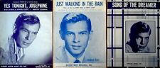 JOHNNIE RAY - DREAMER, .YES JOSEPHINE, JUST WALKING.. - (3) PIECES SHEET MUSIC