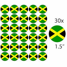 """JAMAICA - 30 x 1.5"""" Rice Paper Cake Toppers - Free Delivery JAMAICAN"""
