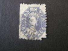 Tasmania, Scott # 27, 6p. Value Slate Blue 1864-69 Qv Issue Used