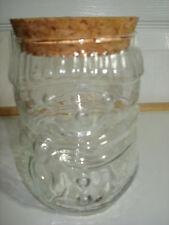 GLASS SNOWMAN JAR WITH CORK LID