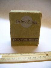 Vintage ART DECO graphics = De Jur Amsco BOX photography exposure meter 1920s