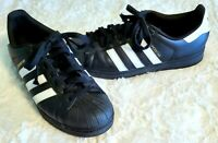 Adidas Originals Superstar Black Shell Toe Men's Size 9 Shoes Sneakers EUC