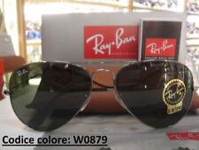 Occhiali da sole da donna verdi marca Ray-Ban argento