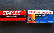 Staples 2 Boxes of Standard Size~ Office Depot & Staples~Office Supply~Used