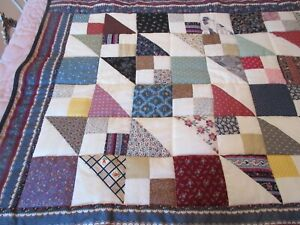 Finished Hand Made Patchwork Lap Quilt San Antonio Quilt Guild Country