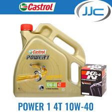 Castrol Power 1 10W40 & K&N Oil Filter For Triumph 2000 Tiger 900 KN-192