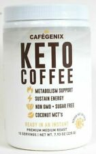 Cafegenix 7.9 Oz KETO Coffee Non GMO 15 Serv Instant Premium Medium Roast 10/21