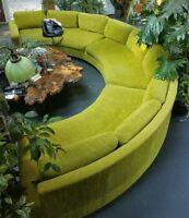 RARE Milo Baughman ? Round Sectional Sofa Mid Century Modern MCM Shawnee Penn LA