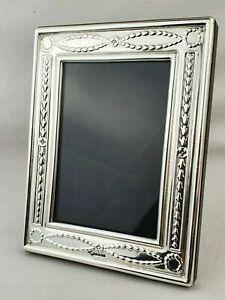 Superb Large Finest 999 Quality Silver Hallmarked London & Britannia Photo Frame
