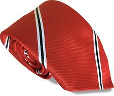 Man Manchester United Utd Football Managers Club Tie Red Black & White Stripes