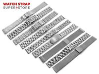 For SEIKO Watch Silver Metal Steel Strap Band Bracelet Clasp Buckle 12-26mm