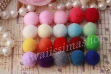40pz mini pon pon morbido in nylon diametro circa 13mm colori scelta per bijoux