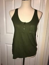 BNWT Armani Exchange Ladies Moss Green Vest Top. Size XS