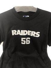 Reebok Oakland Raiders Kids Youth Derrick Burgess #56 Black T Shirt Large