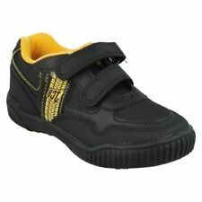 Synthetic Athletic Shoes for Boys with Hook & Loop Fasteners