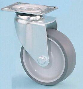Castors/Wheel 50KG Plate Fixing Non Mark Rubber Swivel Castor 50mm x 18mm