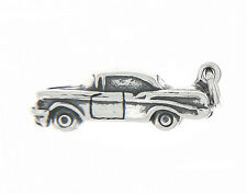 Sterling Silver 3D Hot Rod Old Classic American Car Charm Pendant