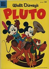 Dell Comic #654 copyright 1955-Walt Disney's- Pluto 10cent Vf-Nm !
