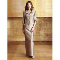 Kasper Maxi Skirt Jacket Formal Dress Set Sz 6 Mother of Bride Groom Formal
