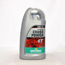 Motorex Cross Power 4T 10W50 Motorenöl, Öl 10 W50 1 Liter Flasche Kanister