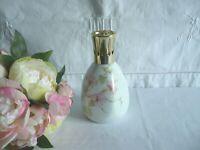 Ancienne lampe berger porcelaine Limoges fleur liseron blanc rose 1970 MNP