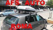 BOX AUTO PORTAPACCHI PORTATUTTO BAULE G3 KRONO 400 LT+BARRE GOLF 5 ANNO 2009