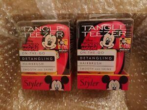 TANGLE TEEZER COMPACT 2X Disney Mickey Mouse Detangling Hairbrush FASTP&P XMAS