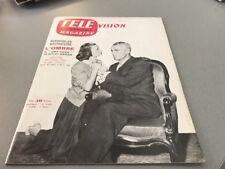 TÉLÉ MAGAZINE N° 45 (septembre 1956) : CLAUDE GÉNIA et JEAN CHEVRIER