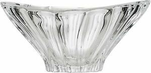 """Bowl Vase 8"""" for Desert Sweets Fruits Crystal Glass Clear Bohemian Czech Crystal"""