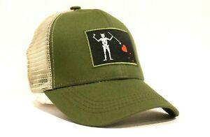 New Blackbeard Pirate Flag Truckers Hat Cap Edward Teach  Navy Seals Team 3