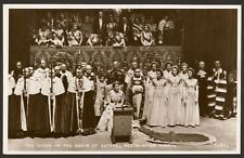 The Coronation. The Queen in the Chair of State - Valentine's Photo Postcard