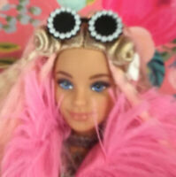 Barbie Silver Mirrored Round Sport frames Sunglasses 1//6 scale doll